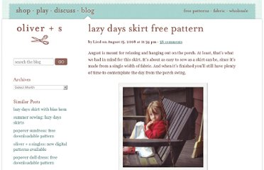 http://oliverands.com/blog/2008/08/lazy-days-skirt-free-pattern.html