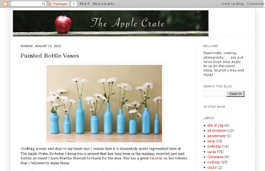 http://apple-crate.blogspot.com/2011/08/painted-bottle-vases.html