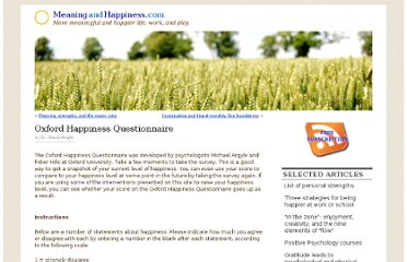 http://www.meaningandhappiness.com/oxford-happiness-questionnaire/214/