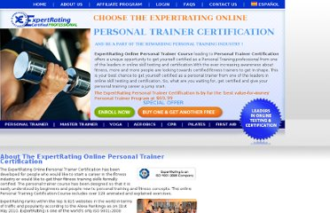http://www.expertrating.com/personal-trainer-certification.asp