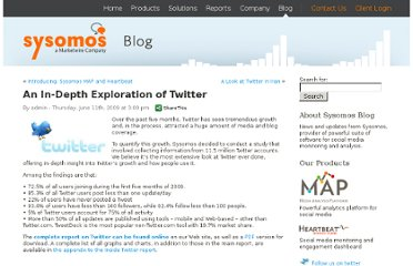 http://blog.sysomos.com/2009/06/11/an-in-depth-exploration-of-twitter/