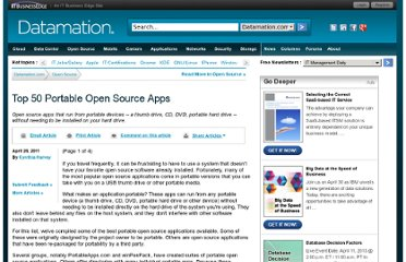 http://www.datamation.com/osrc/article.php/3931816/Top-50-Portable-Open-Source-Apps.htm