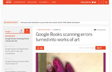http://thenextweb.com/google/2012/03/18/google-books-scanning-errors-turned-into-works-of-art/