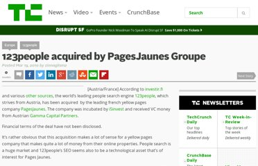 http://techcrunch.com/2010/03/19/breaking-123people-acquired-by-pagesjaunes-groupe/
