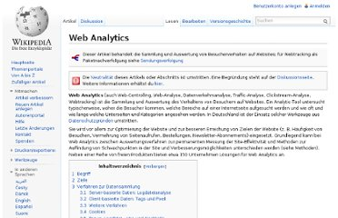 http://de.wikipedia.org/wiki/Web_Analytics