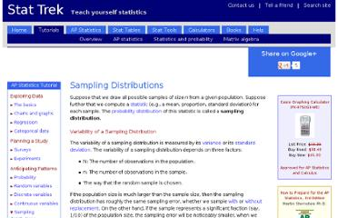 http://stattrek.com/sampling/sampling-distribution.aspx