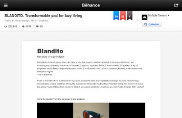 http://www.behance.net/gallery/BLANDITO_-Transformable-pad-for-lazy-living/667146