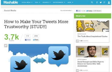http://mashable.com/2012/03/18/tweets-more-trustworthy-study/