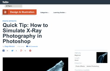 http://psd.tutsplus.com/tutorials/photo-effects-tutorials/quick-tip-how-to-simulate-x-ray-photography-in-photoshop/
