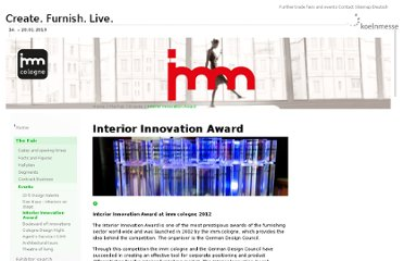 http://www.imm-cologne.com/en/imm/diemesse/events_veranstaltungen/interiorinnovationaward/index.php