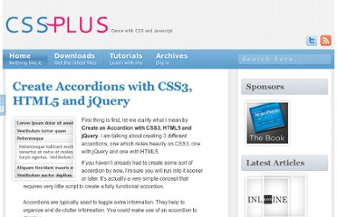 http://css-plus.com/2011/08/create-accordions-with-css3-html5-and-jquery/