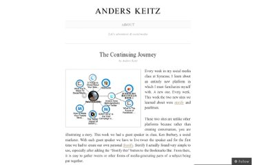 http://anderskeitz.wordpress.com/2012/03/18/the-continuing-journey/