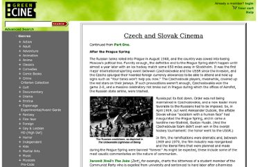 http://www.greencine.com/static/primers/czech-slovak-2.jsp