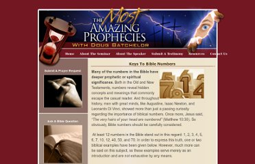 http://www.mostamazingprophecies.com/resources/keys-to-bible-numbers.aspx