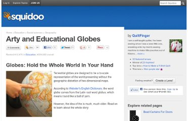 http://www.squidoo.com/arty-and-educational-globes