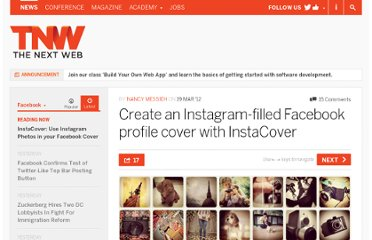 http://thenextweb.com/facebook/2012/03/19/create-an-instagram-filled-facebook-profile-cover-with-instacover/