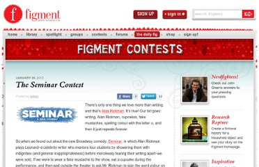 http://dailyfig.figment.com/2012/01/26/the-seminar-contest/