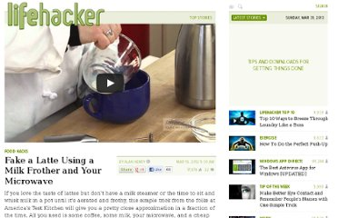 http://lifehacker.com/5894435/fake-a-latte-using-a-milk-frother-and-your-microwave