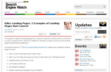 http://searchenginewatch.com/article/2161567/Killer-Landing-Pages-3-Examples-of-Landing-Pages-that-Convert