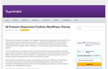 http://inspirationfeed.com/wordpress/themes-wordpress/40-premium-responsive-portfolio-wordpress-themes/