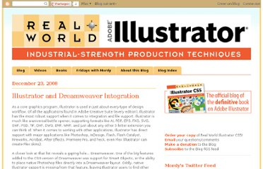 http://rwillustrator.blogspot.com/2008/12/illustrator-and-dreamweaver-integration.html