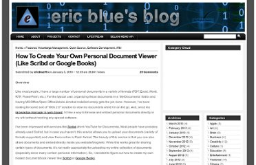 http://eric-blue.com/2010/01/03/how-to-create-your-own-personal-document-viewer-like-scribd-or-google-books/