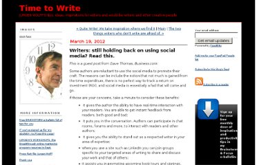 http://timetowrite.blogs.com/weblog/2012/03/writers-still-holding-back-on-using-social-media-read-this.html