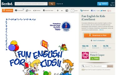 http://es.scribd.com/doc/4024053/Fun-English-for-Kids-Castellano
