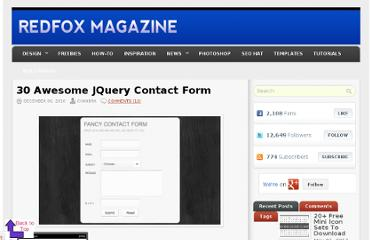 http://www.redfoxmagazine.com/30-awesome-jquery-contact-form/