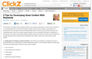 http://www.clickz.com/clickz/column/2161595/tips-developing-content-keywords