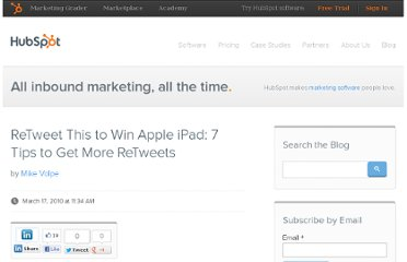 http://blog.hubspot.com/blog/tabid/6307/bid/5747/ReTweet-This-to-Win-Apple-iPad-7-Tips-to-Get-More-ReTweets.aspx