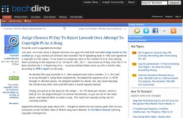 http://www.techdirt.com/articles/20120316/14275618144/judge-chooses-pi-day-to-reject-lawsuit-over-attempt-to-copyright-pi-as-song.shtml