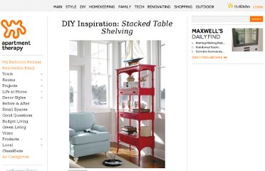 http://www.apartmenttherapy.com/tables-made-into-shelves-167650
