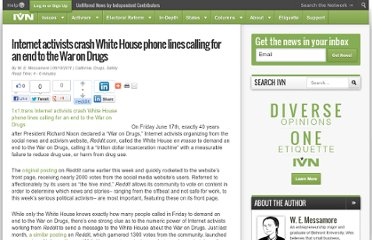 http://ivn.us/2011/06/18/internet-activists-crash-white-house-phone-lines-calling-end-war-drugs/