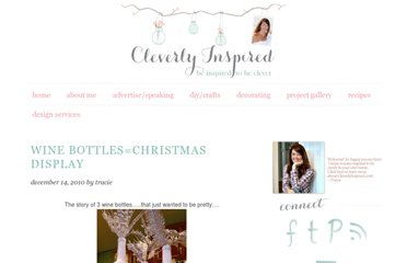 http://cleverlyinspired.blogspot.com/2010/12/wine-bottleschristmas-display_14.html