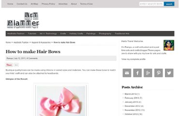 http://artplatter.com/2011/07/how-to-make-hair-bows/