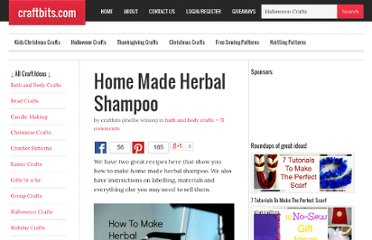 http://www.craftbits.com/project/home-made-herbal-shampoo