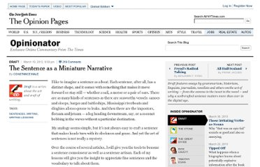http://opinionator.blogs.nytimes.com/2012/03/19/the-sentence-as-a-miniature-narrative/