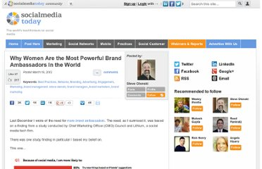 http://socialmediatoday.com/steve-olenski/472774/why-women-are-most-powerful-brand-ambassadors-world