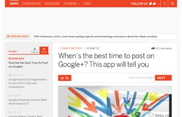 http://thenextweb.com/google/2012/03/20/whens-the-best-time-to-post-on-google-this-app-will-tell-you/