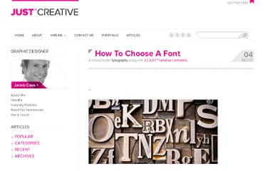 http://justcreative.com/2007/12/04/how-to-choose-a-font/