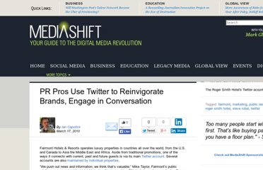 http://www.pbs.org/mediashift/2010/03/pr-pros-use-twitter-to-reinvigorate-brands-engage-in-conversation076.html