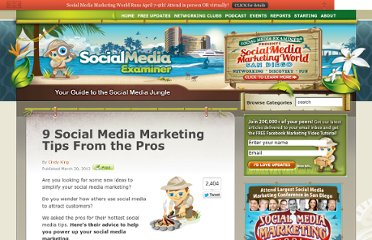 http://www.socialmediaexaminer.com/9-social-media-marketing-tips-from-the-pros/