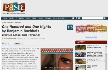 http://www.pastemagazine.com/articles/2012/03/one-hundred-and-one-nights-by-benjamin-buchholz.html