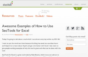 http://www.distilled.net/blog/seo/awesome-examples-of-how-to-use-seotools-for-excel/