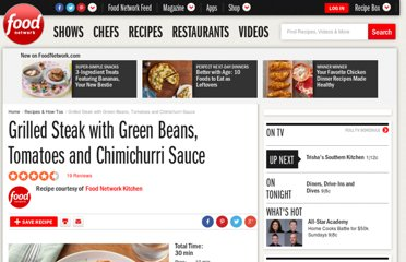 http://www.foodnetwork.com/recipes/food-network-kitchens/grilled-steak-with-green-beans-tomatoes-and-chimichurri-sauce-recipe/index.html