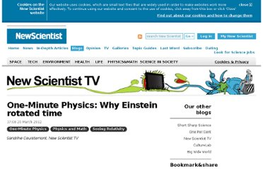 http://www.newscientist.com/blogs/nstv/2012/03/one-minute-physics-why-einstein-rotated-time.html