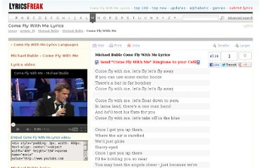 http://www.lyricsfreak.com/m/michael+buble/come+fly+with+me_20092546.html