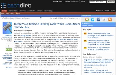 http://www.techdirt.com/articles/20120316/00423518125/justintv-not-guilty-stealing-cable-when-users-stream-ufc-matches.shtml