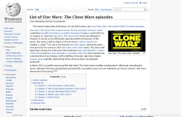 http://en.wikipedia.org/wiki/List_of_Star_Wars:_The_Clone_Wars_episodes